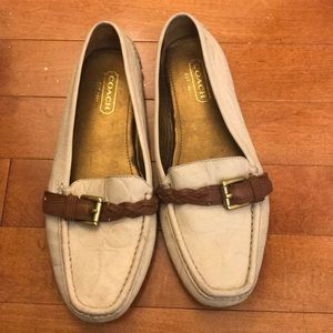 Gently used Coach flats